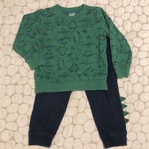 Carter's boys dinosaur sweatshirt and pants set